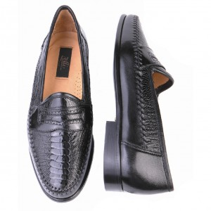 Zelli Shoes Milano Ostrich Leg & Nappa Loafers