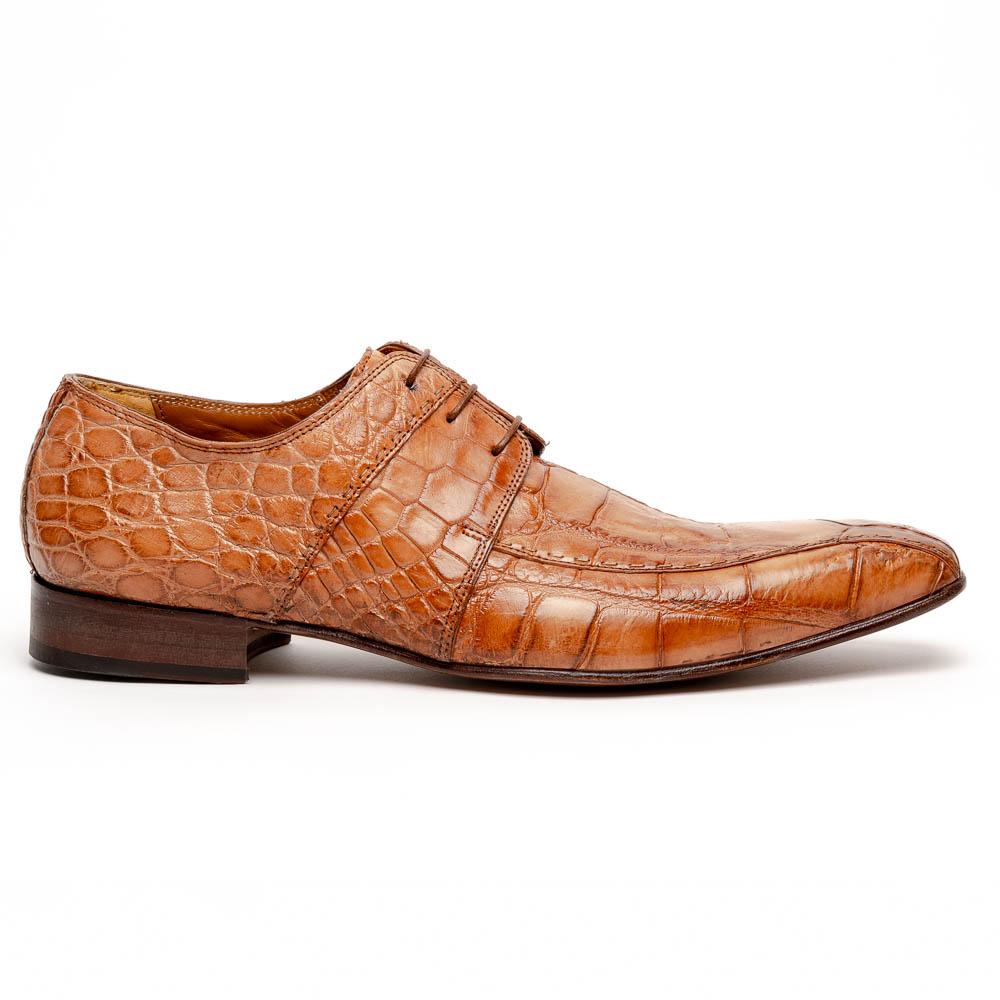 Mauri Castello Alligator Derby Shoes Cognac Image