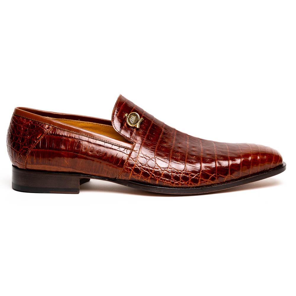 Mauri 4912 Body Alligator Shoes Gold Image