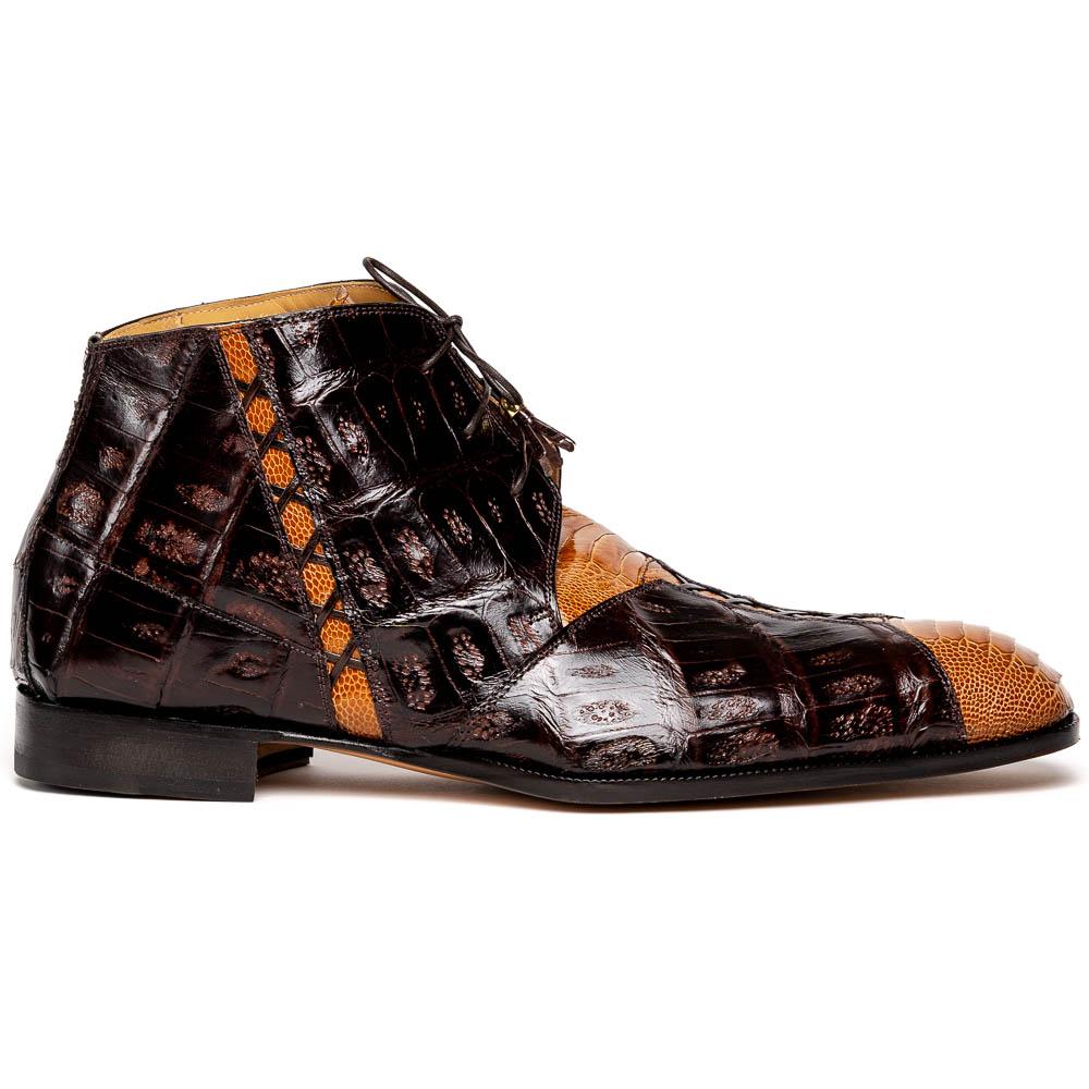 Mauri Harlem 4926 Ostrich Leg & Baby Croc Boots Corn / Sp Rust Image
