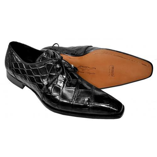 Mauri 53125 Alligator Dress Shoes Black (Special Order) Image