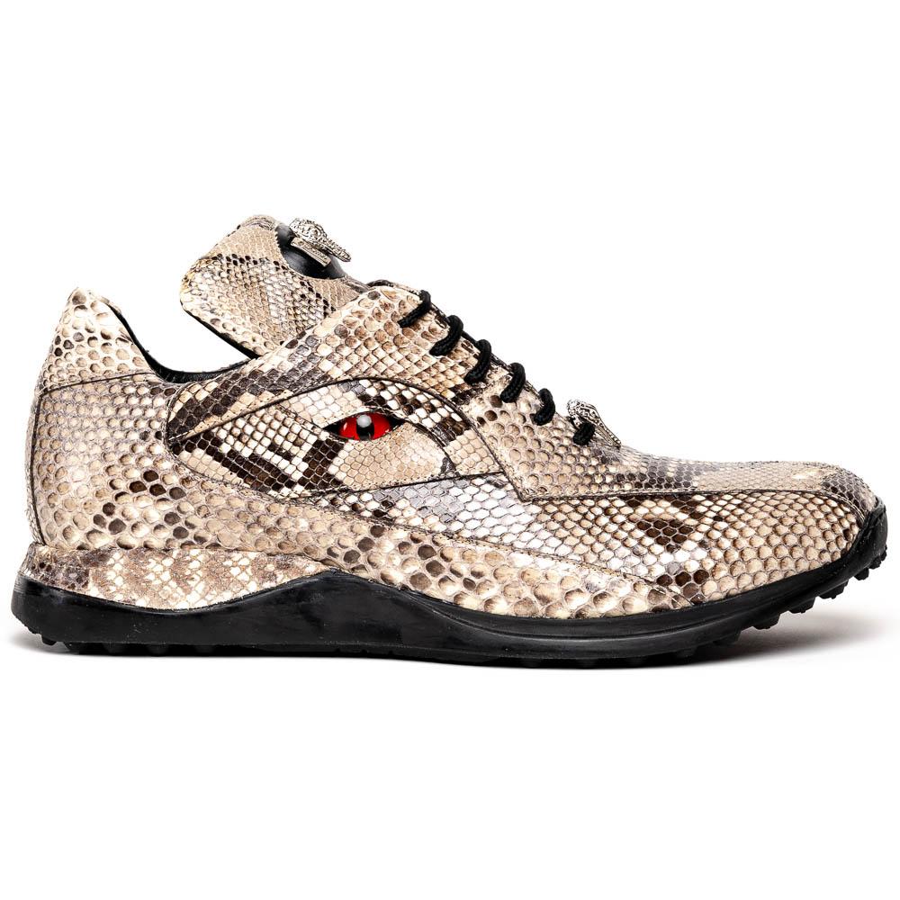 Mauri Snake Eyes 8596 Python Sneakers Natural Image