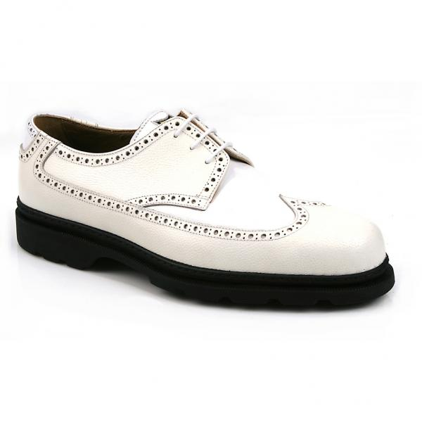 Michael Toschi G2 Wing Tip Golf Shoes White/White Image