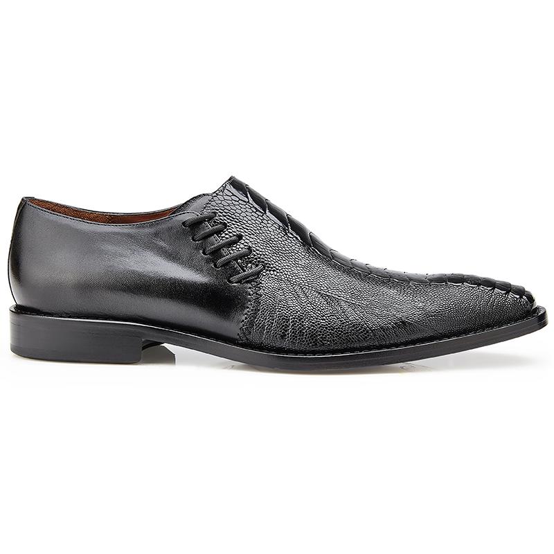 Belvedere  Savana Ostrich & Calf Loafers Black Image