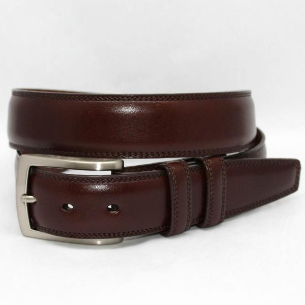 Torino Leather Big & Tall Burnished Veal Belt - Cognac Image