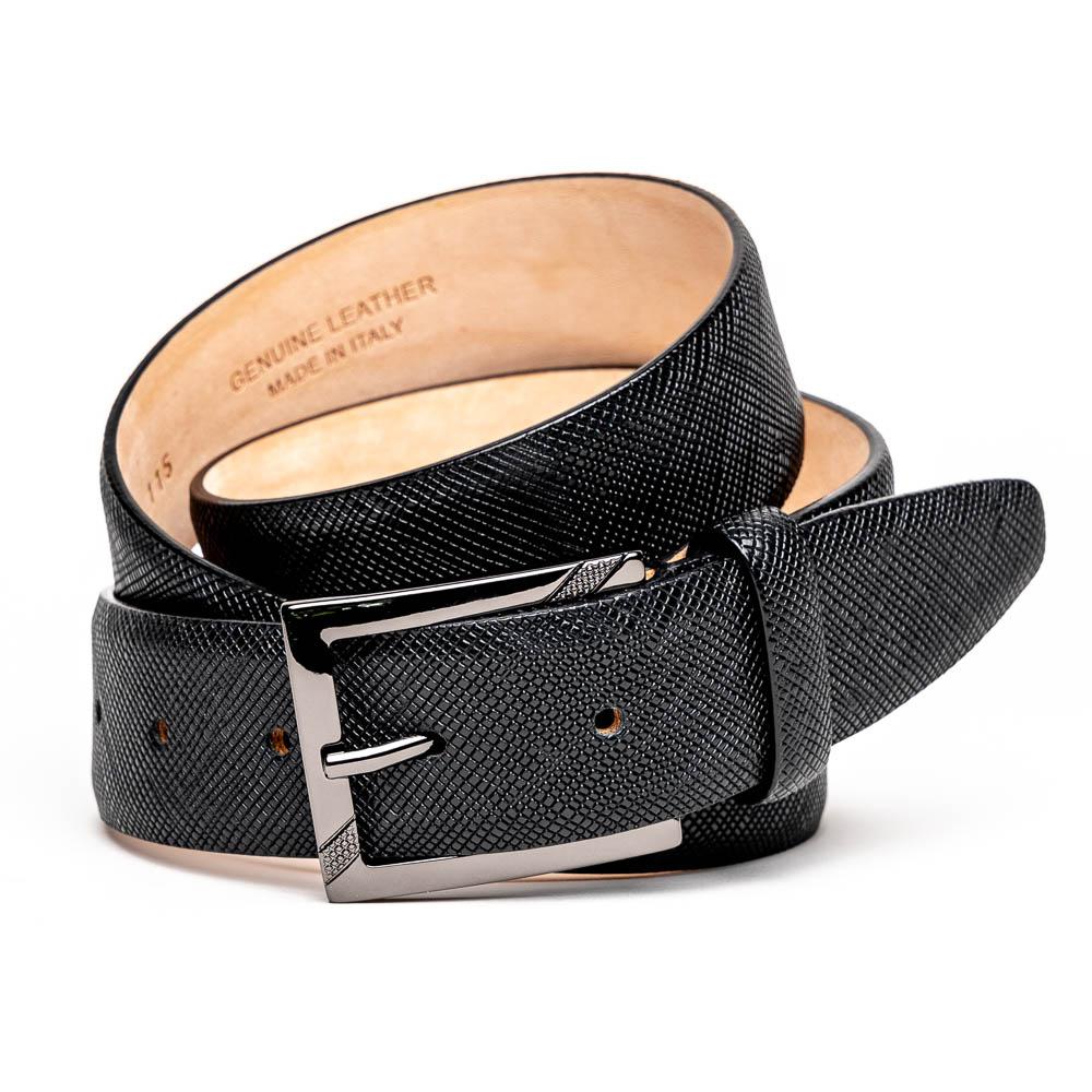 Calzoleria Toscana C1499 Saffiano Leather Belt Black Image