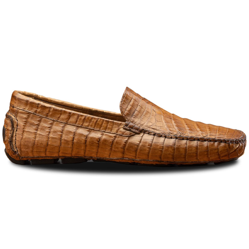 Calzoleria Toscana 4551 Crocodile Driving Shoes Cerris Image
