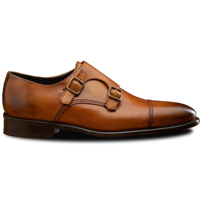 Calzoleria Toscana 6582 Monk Strap Shoes Dark Caramel Image