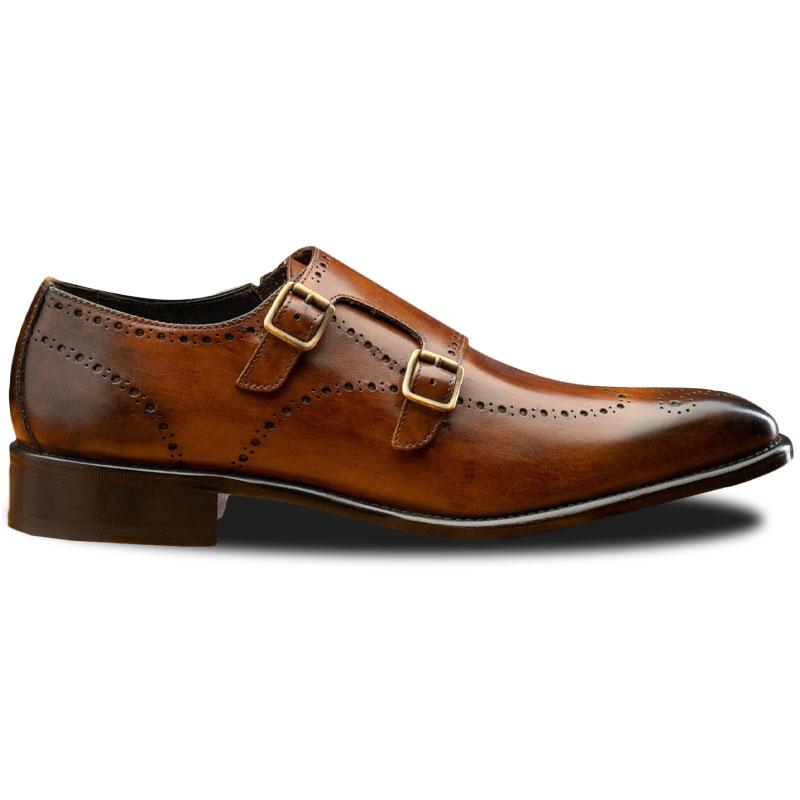 Calzoleria Toscana 8863 Double Monk Strap Shoes Chestnut Image