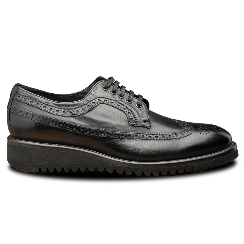 Calzoleria Toscana Q400 Agos Wingtip Shoes Black Image