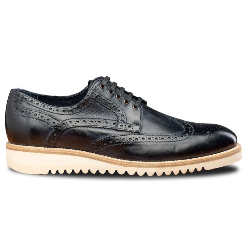 Calzoleria Toscana Q399 Agos Wingtip Shoes Blue Image