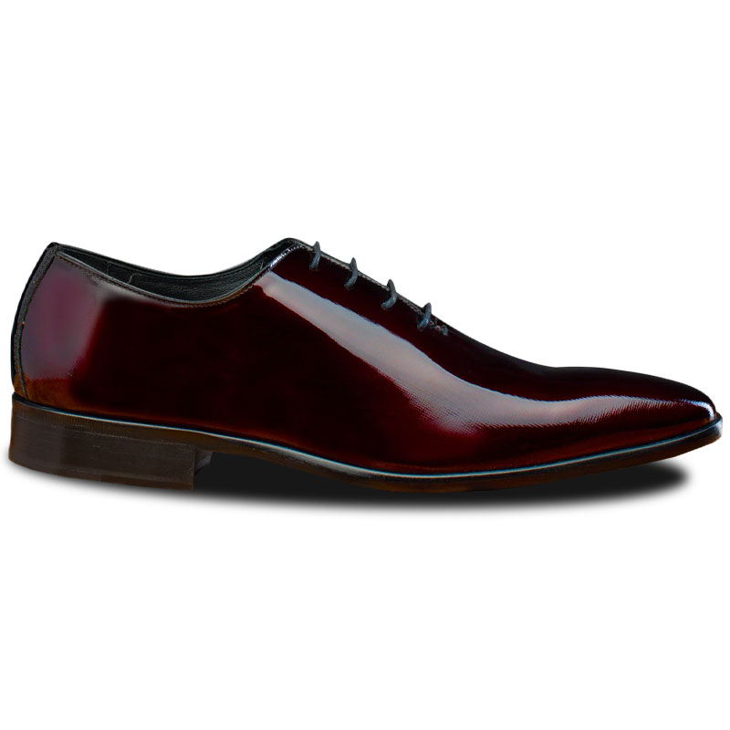 Calzoleria Toscana 4870 Patent Leather Oxfords Burgundy Image