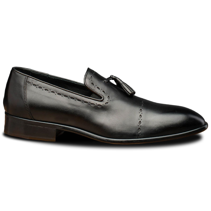 Calzoleria Toscana H614 Tassel Loafers Black Image