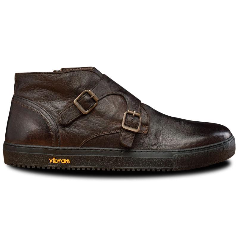 Calzoleria Toscana H884 Buffalo Double Monk Sneakers Dark Brown Image