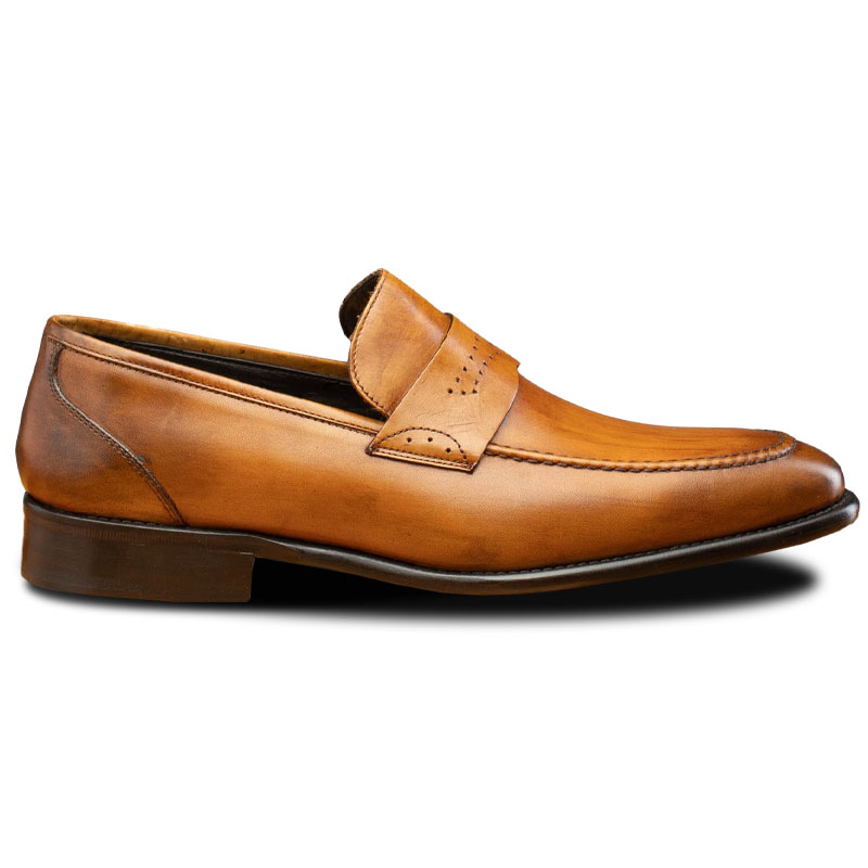 Calzoleria Toscana Q540 Wholecut Loafers Chestnut Image