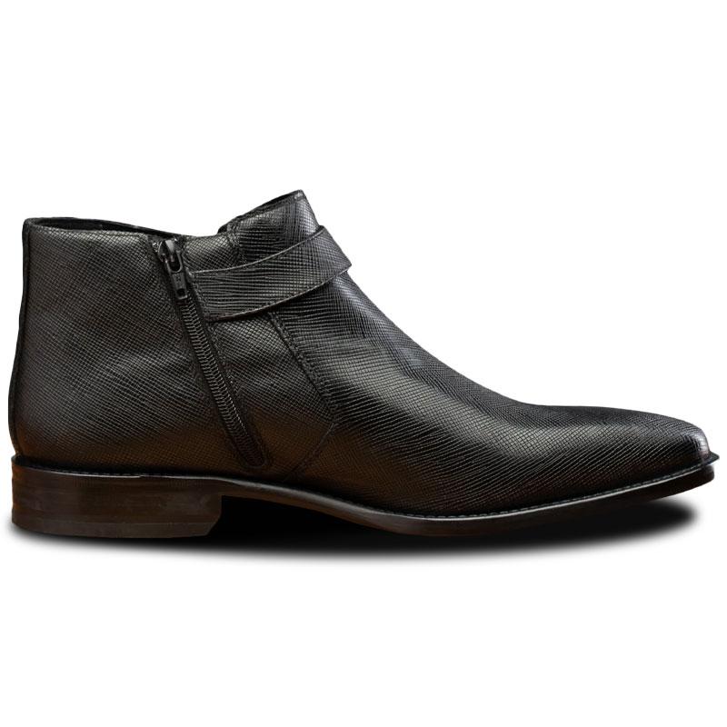 Calzoleria Toscana 1221 Saffiano Ankle Boots Black Image