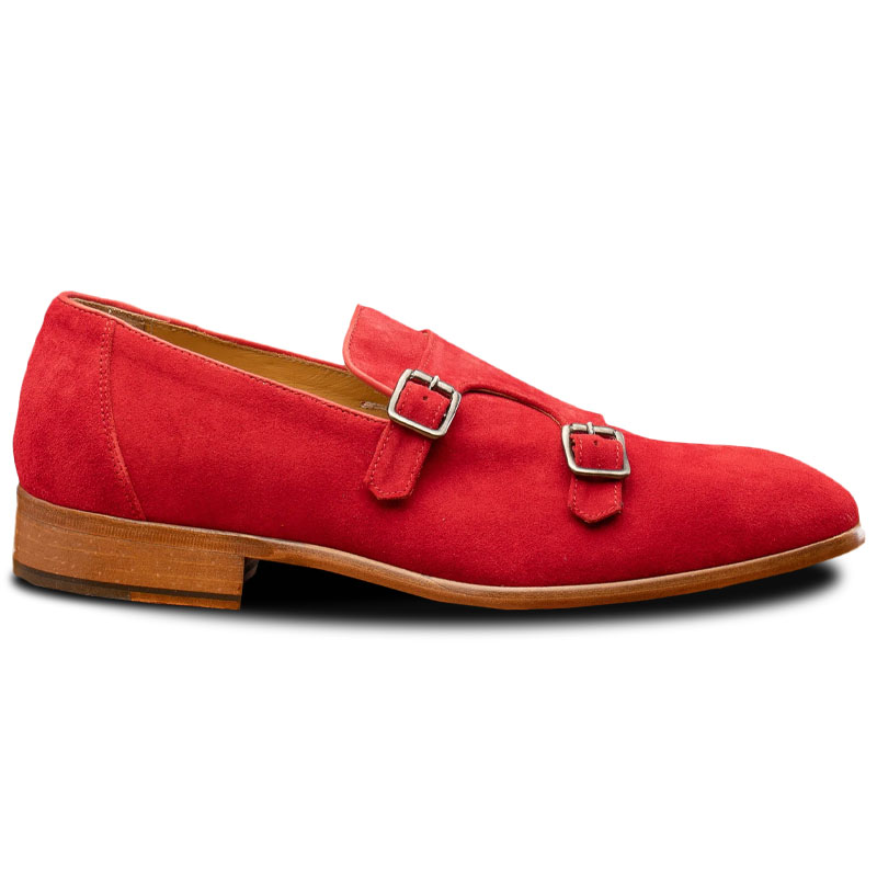 Calzoleria Toscana Z893 Double Monk Strap Shoes Red Image