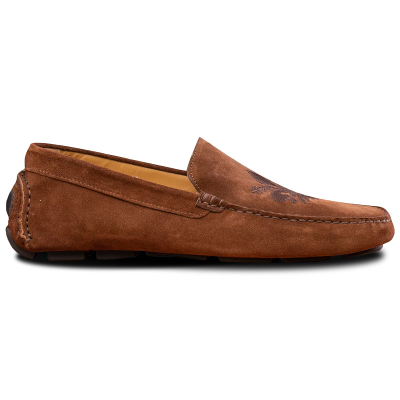 Calzoleria Toscana 5303 Venetian Suede Driving Loafers Brick Image