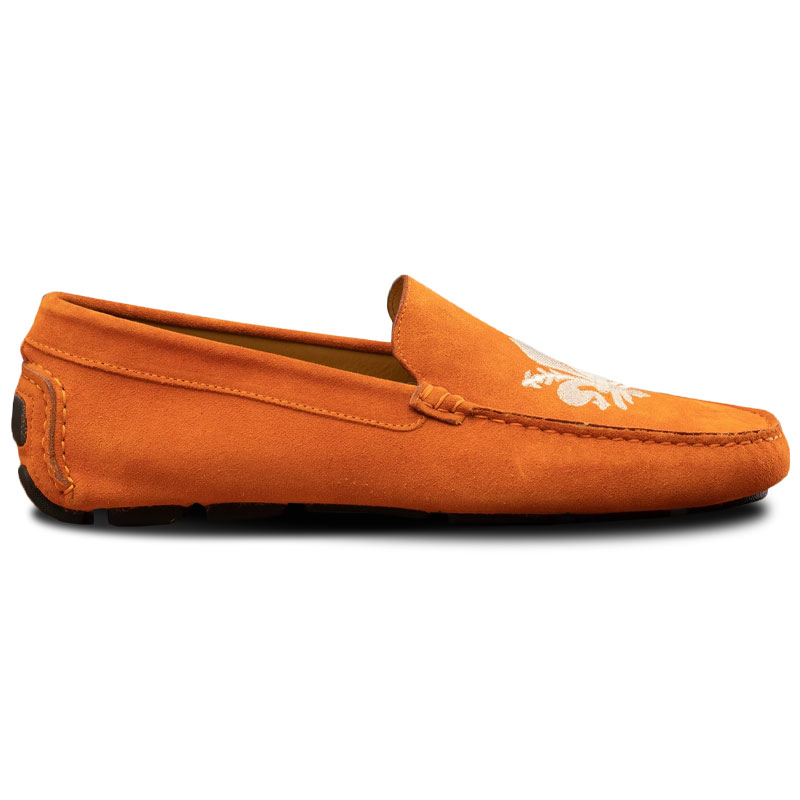 Calzoleria Toscana 5303 Venetian Suede Driving Loafers Papaya Image