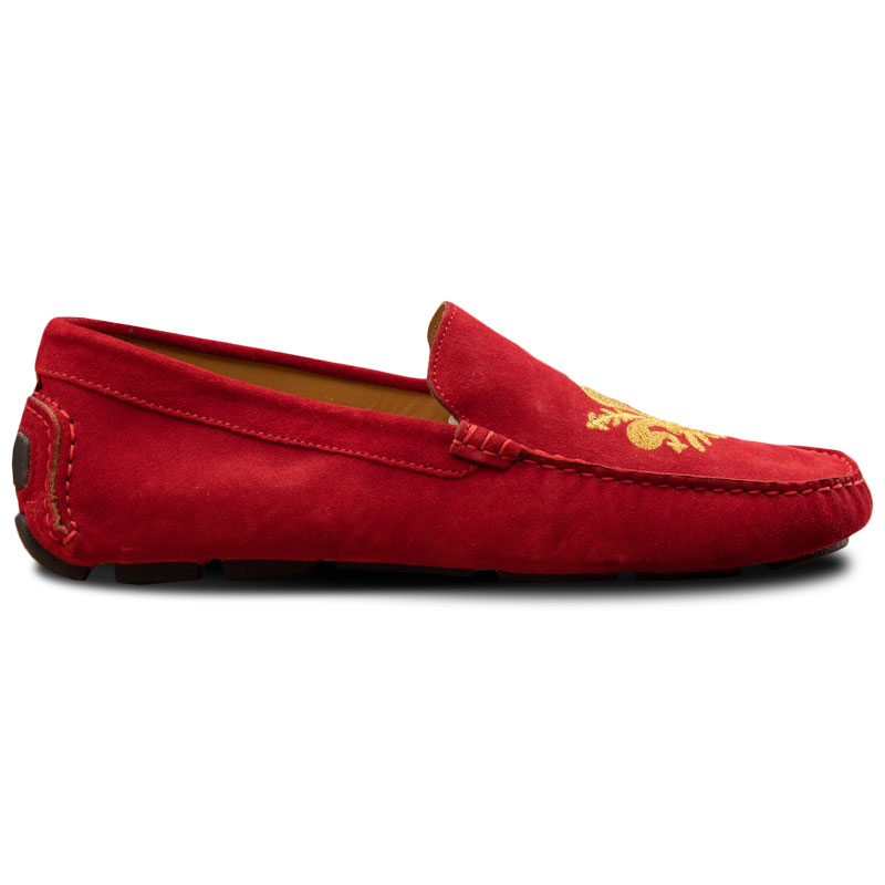 Calzoleria Toscana 5303 Venetian Suede Driving Loafers Red Image