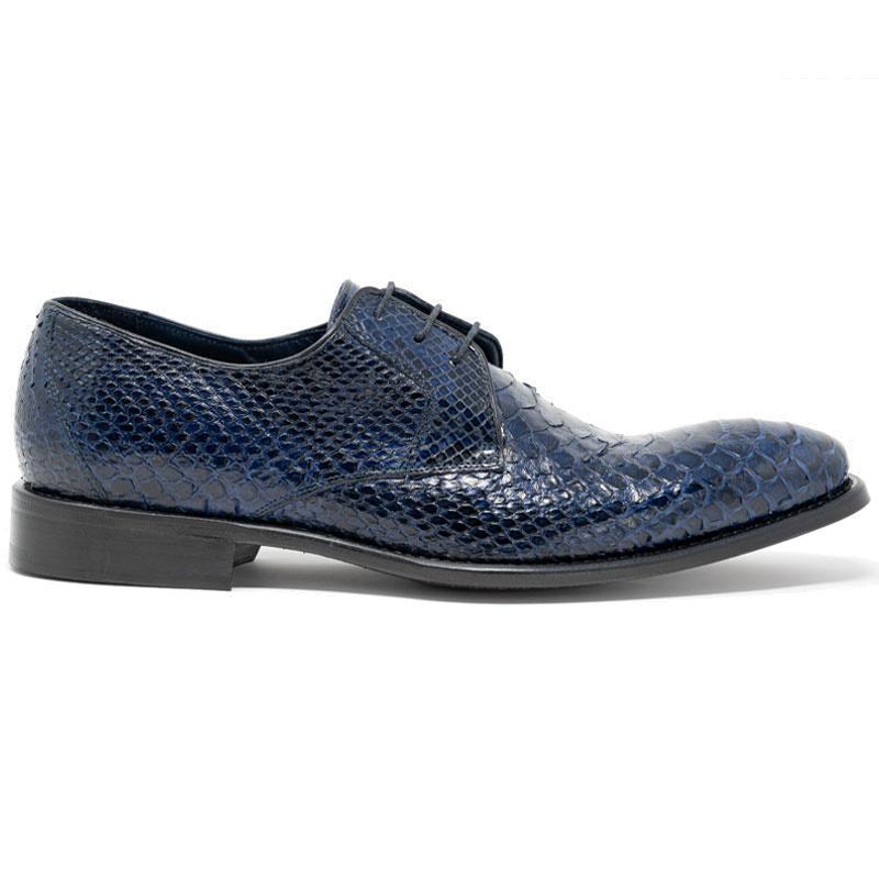 Calzoleria Toscana Z624 Python Shoes Navy Image