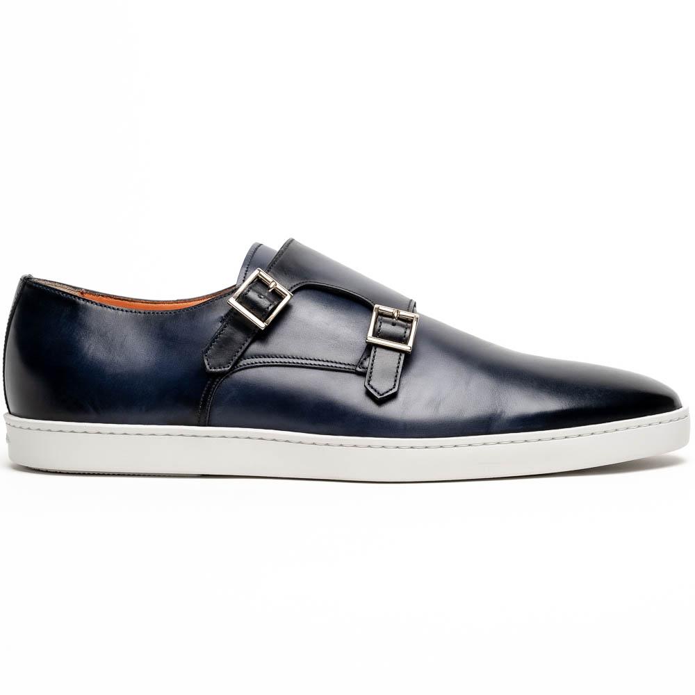 Santoni Freemont 01 Double Buckle Sneaker Light Blue Image