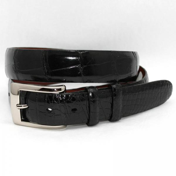Torino Leather Genuine American Alligator Belt - Black Image