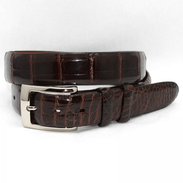 Torino Leather Genuine American Alligator Belt - Brown Image