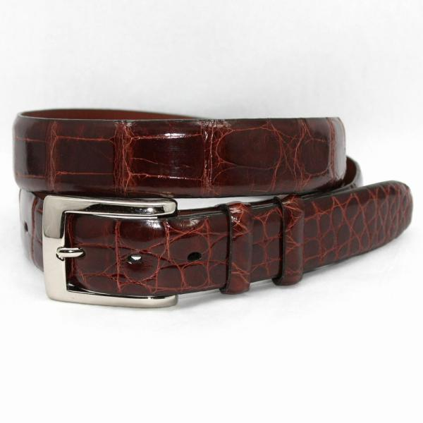 Torino Leather Genuine American Alligator Belt - Cognac Image