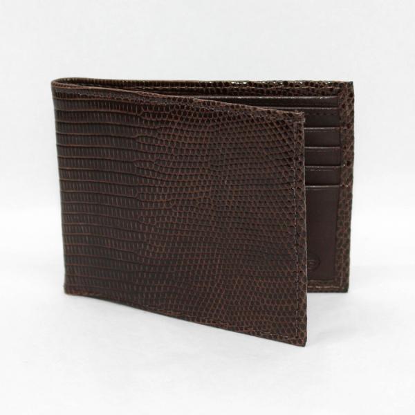 Torino Leather Genuine Lizard Billfold - Brown Image