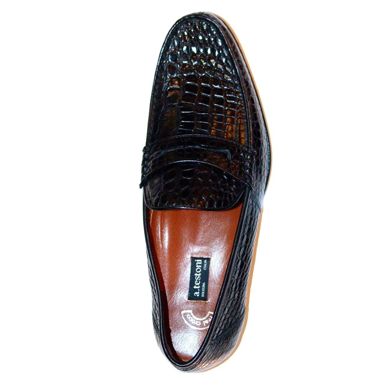 A. Testoni M80214 Shoes Black Calf | Women's Shoes