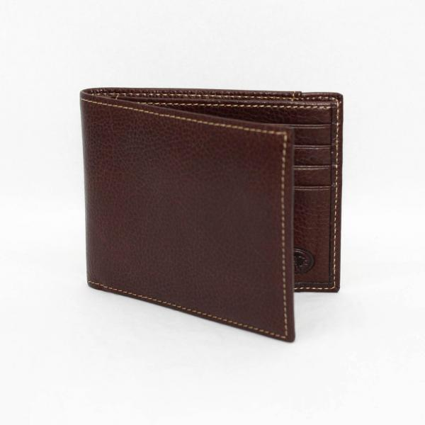 Torino Leather Tumbled Calf Billfold - Burnished Brown Image