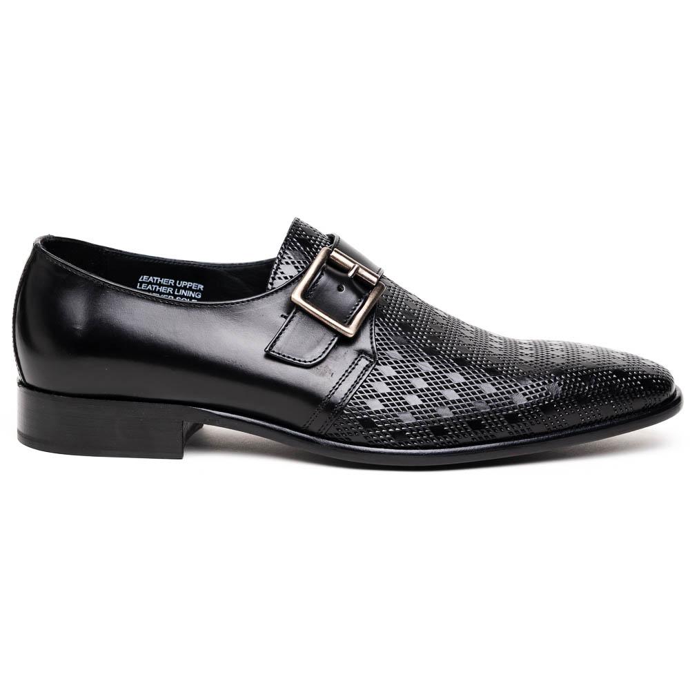 Calzoleria Toscana Z315 Parma Calfskin Monkstrap Shoes Black Image