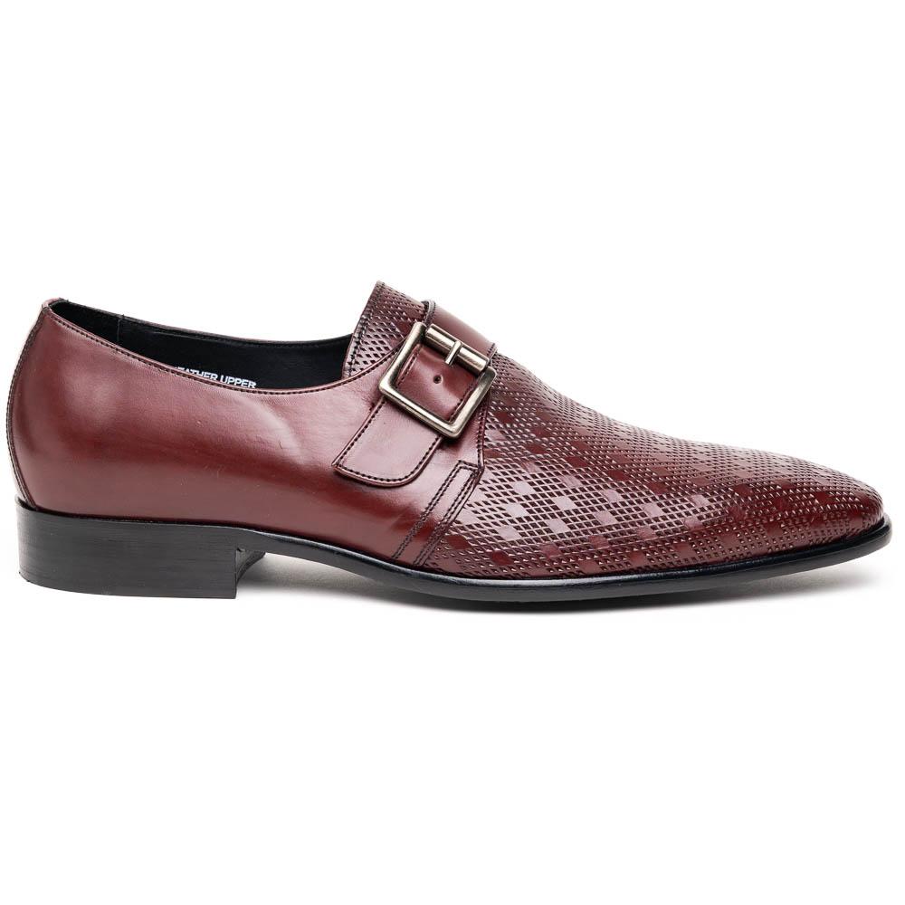 Calzoleria Toscana Z315 Parma Calfskin Monkstrap Shoes Burgundy Image