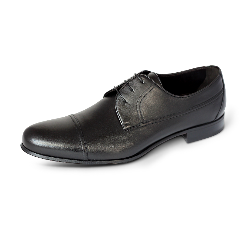 A. Testoni Cap Toe Shoes Black Image