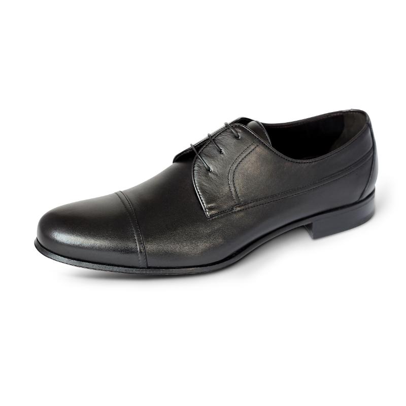 A. Testoni Cap Toe Shoes Black Image