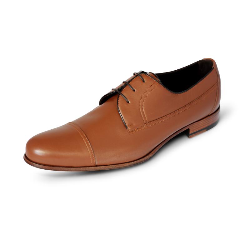 A. Testoni Cap Toe Shoes Caramel Image