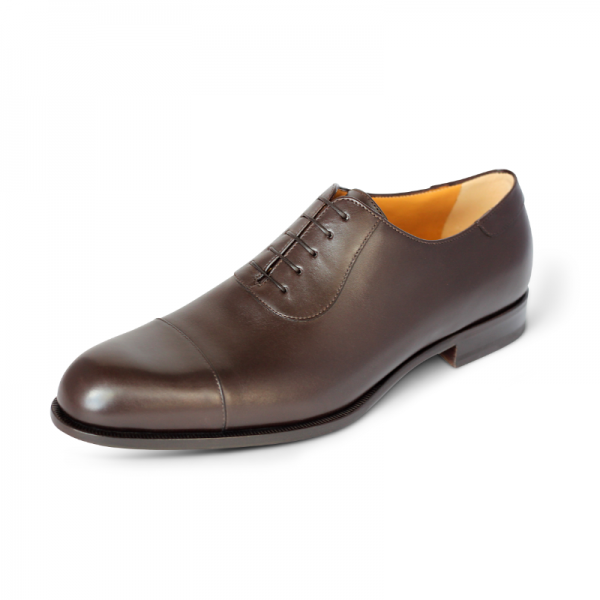 A. Testoni Cap Toe Oxfords Brown Image