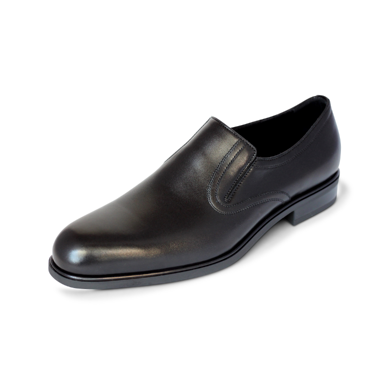 A. Testoni Plain Toe Loafers Black Image