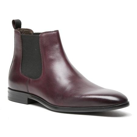 A. Testoni M50006 Chelsea Boots Dark Berry Image