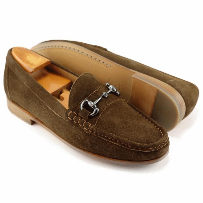 Alan Payne Bit Suede Loafers Snuff Image