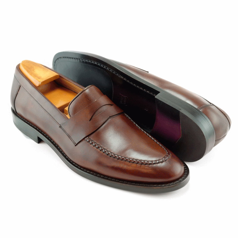 Alan Payne Brockton Penny Loafers Brandy Image