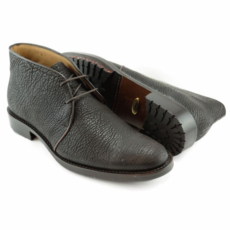 Alan Payne Burt Deerskin Chukka Boots Brown Image