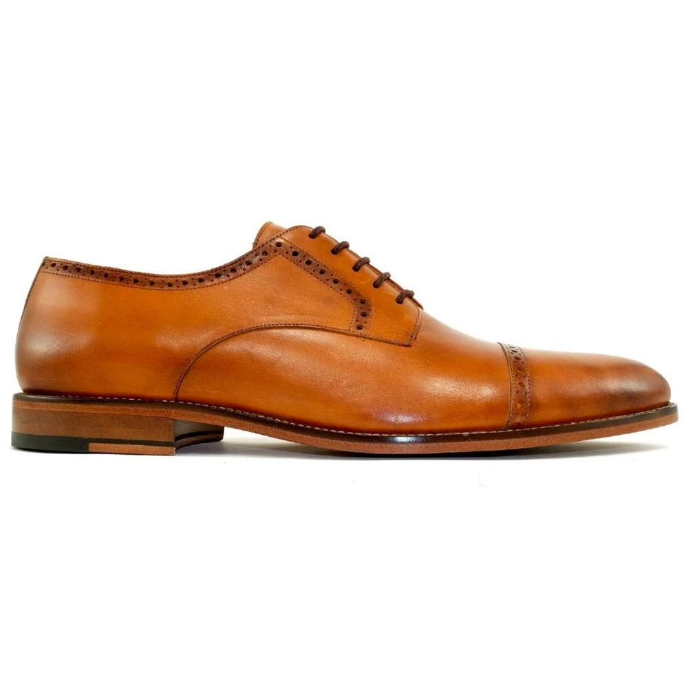 Alan Payne Cambridge Cap Toe Shoes British Tan Image