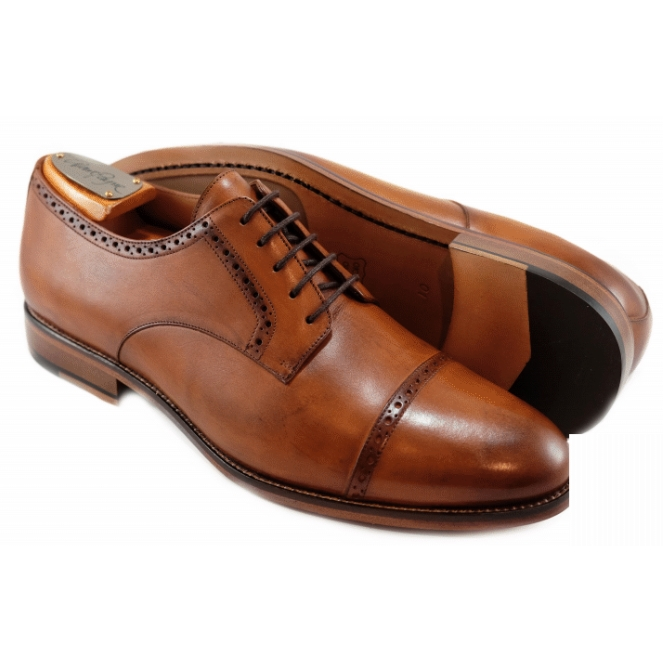 Alan Payne Cambridge Cap Toe Shoes British Tan Image