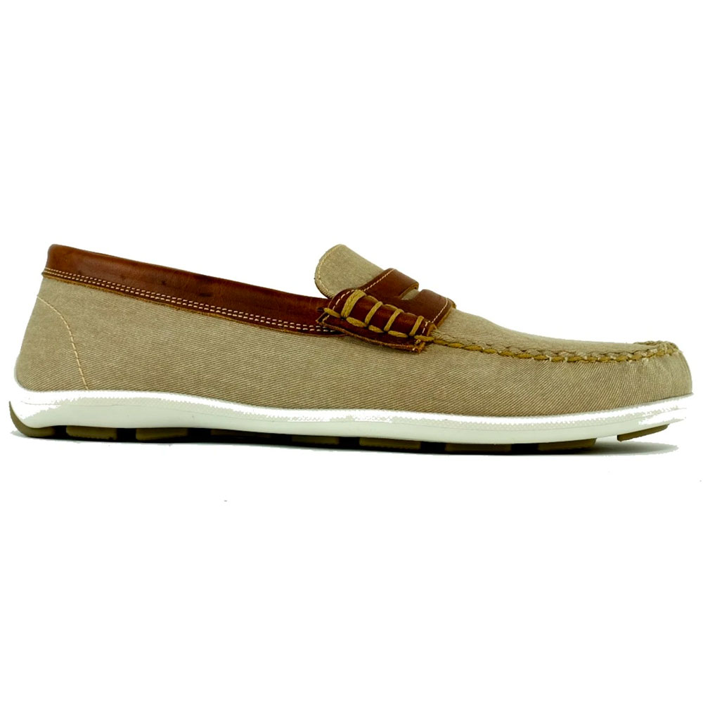 Alan Payne Cannes Penny Loafers Oyster/Tan Image