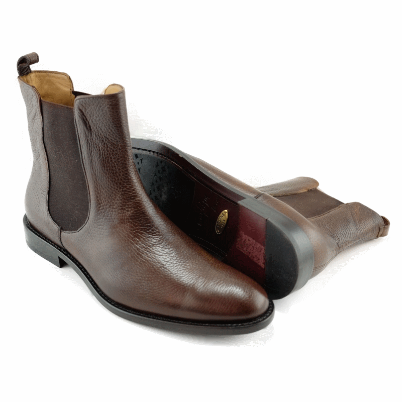 Alan Payne Chester Deerskin Boots Almond Image