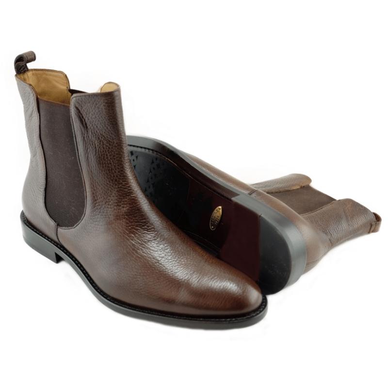 Alan Payne Chester Deerskin Boots Antique Honey Image