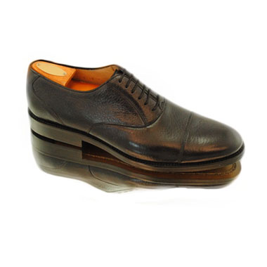 Alan Payne Colby Deerskin Cap Toe Oxfords Black Image