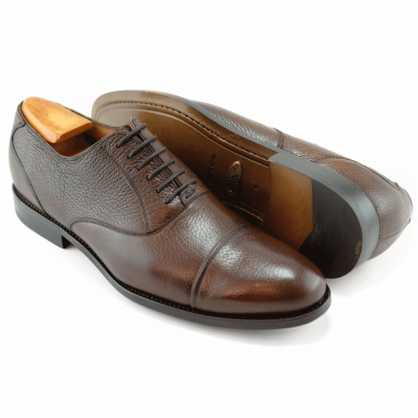 Alan Payne Colby Deerskin Cap Toe Oxfords Almond Image